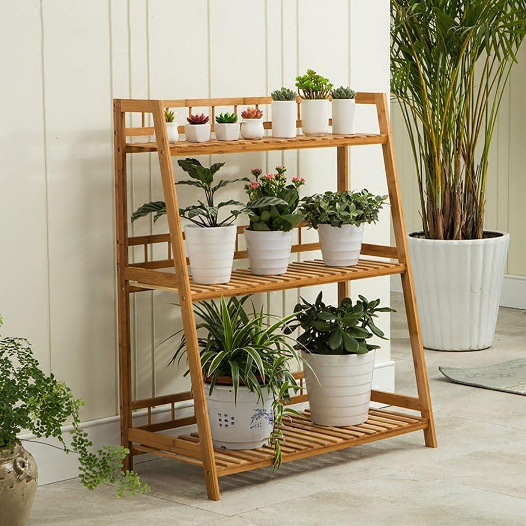 GSPHJ - Estantes de Madera de bambú para balcón, macetas, estantes, Escalera, estantería de bonsái, Color Verde: Amazon.es: Jardín