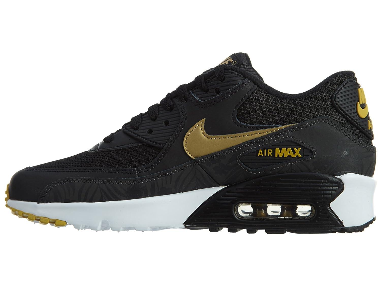 Nike Air Max 90 Print Mesh GS, Chaussures de Running Homme, Noir