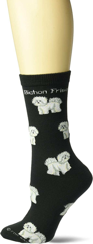 Bichon Frise Dog Breed Pattern #1 Men-Women Adult Ankle Socks Novelty Socks