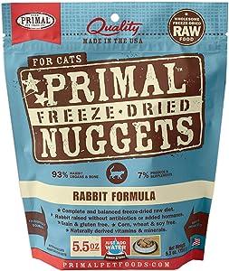 Primal Freeze Dried Cat Food - Rabbit Formula - 5.5 Oz.