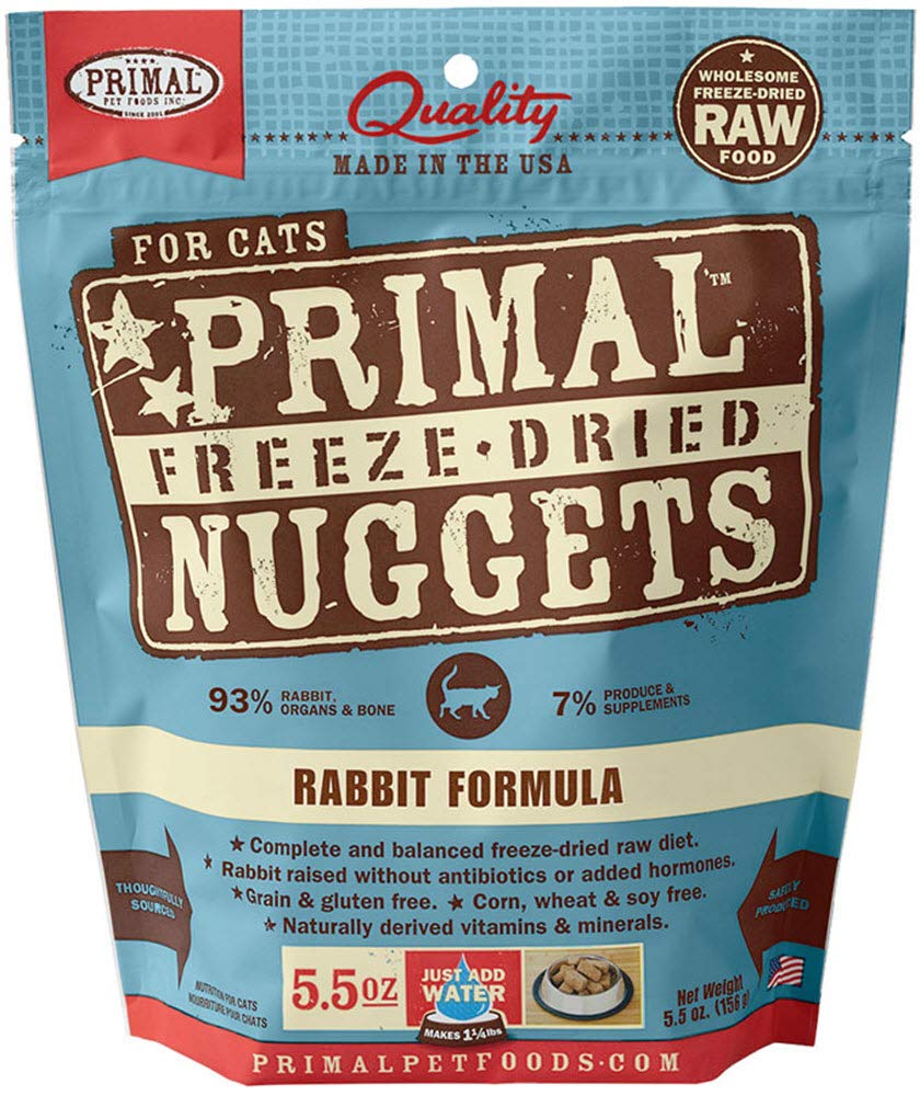 Primal Freeze Dried Cat Food - Rabbit Formula - 5.5 Oz. by Primal