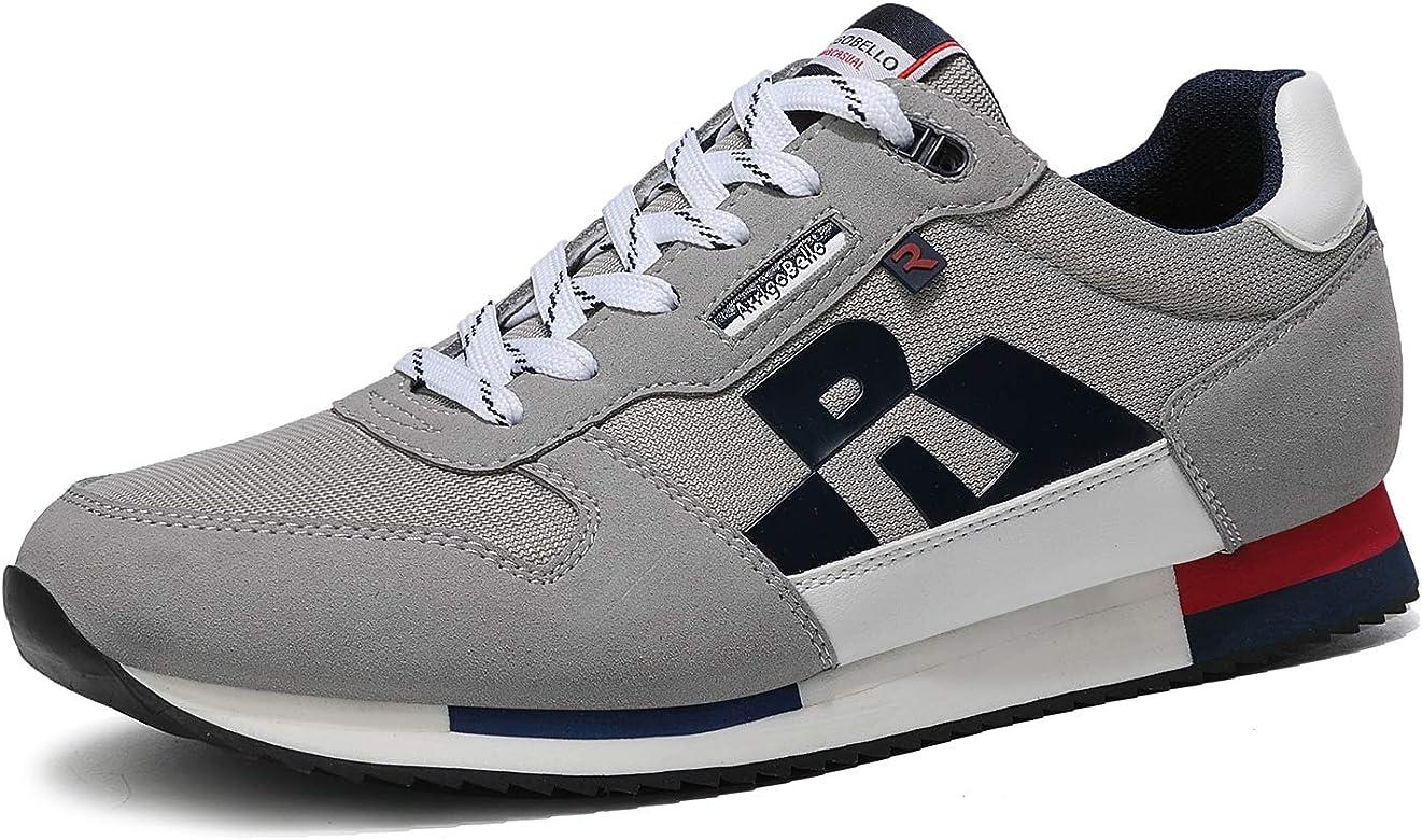 ARRIGO BELLO Zapatillas Deportivas Hombre Running Zapatos Vestir Casual Transpirables Sneakers Gimnasio Correr Tamaño 40-46 (41 EU, Gris): Amazon.es: Zapatos y complementos
