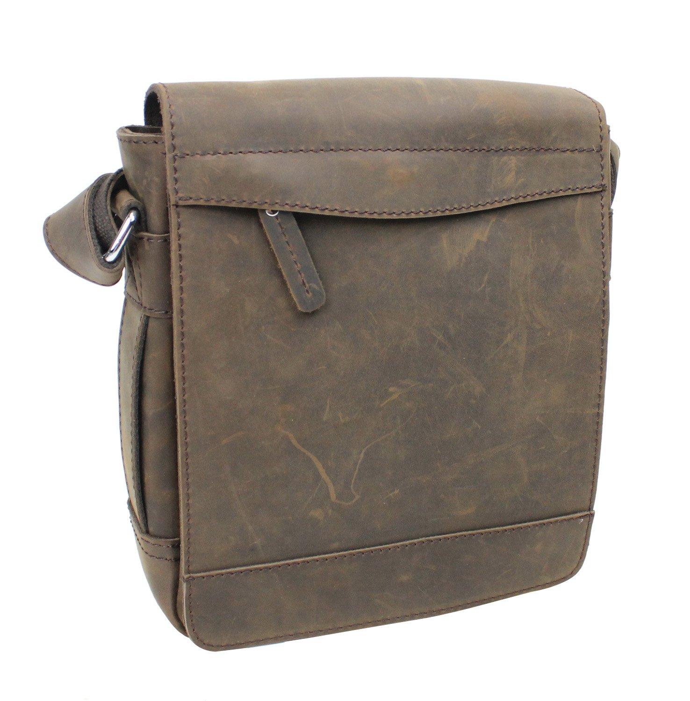 Vagabond Traveler TRIPPER - 9.5'' Leather High Fashion Satchel Bag L72. Distress