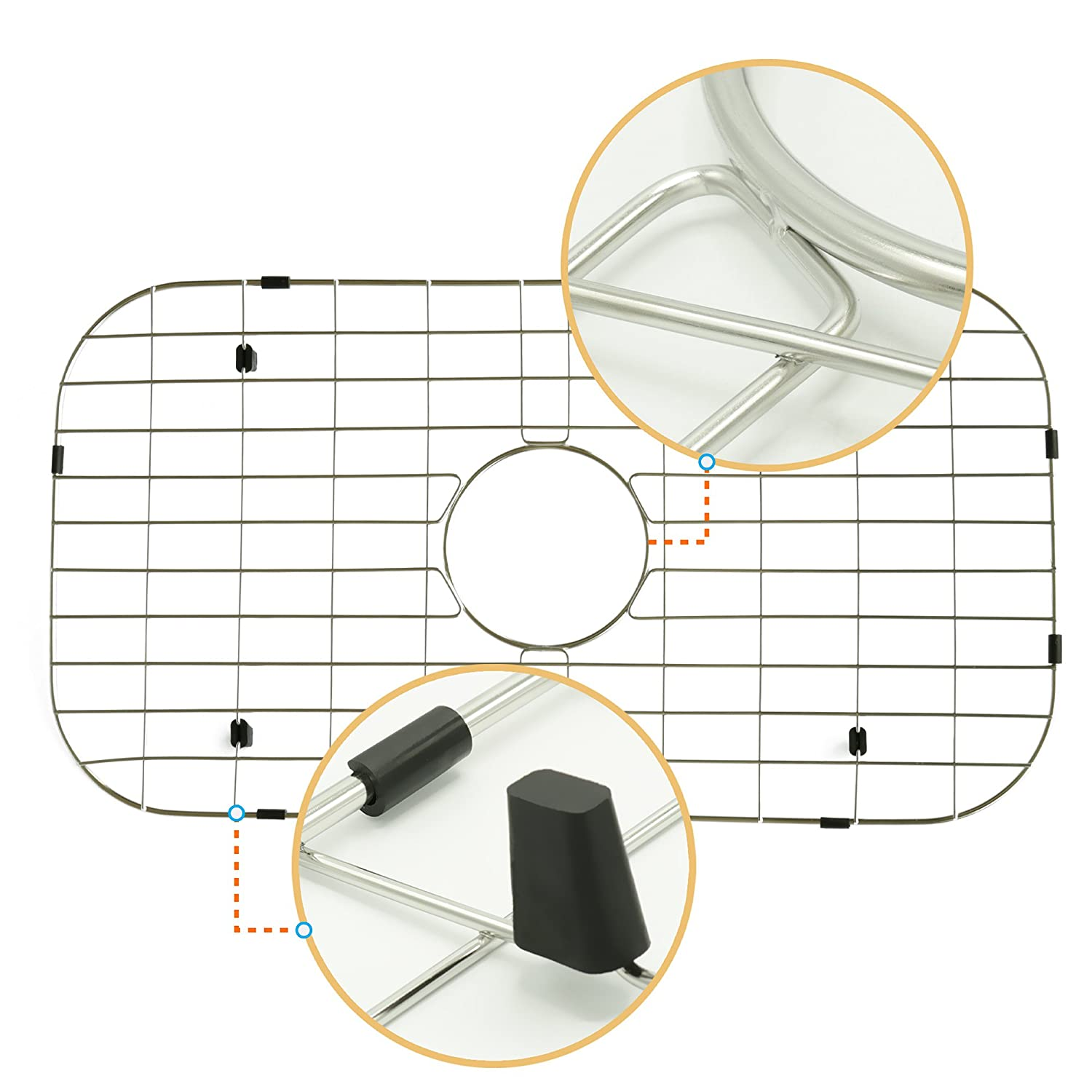 11 in X 15 in Metal Grid for Stainless Steel Kitchen Sinks Best for Protecting Your Sink NWC1511 NWC Sink Protector