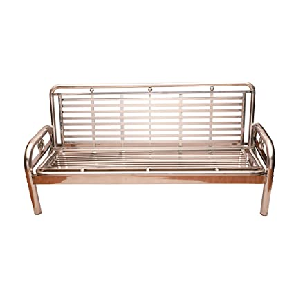Remarkable Lakdi Folding Metal Sofa Cum Bed With Steel Arms Ideal For Office Home Reception Mfn 134119 130 Machost Co Dining Chair Design Ideas Machostcouk