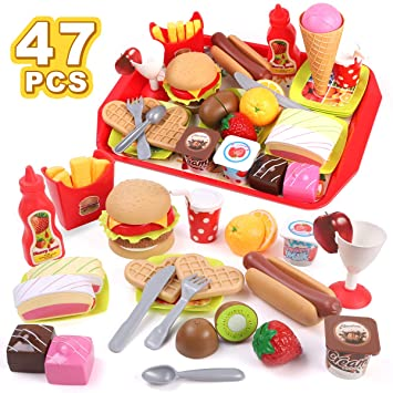 "18/"" American Girl Doll Ham hamburger dinner breakfast toy figure Xmas gift"