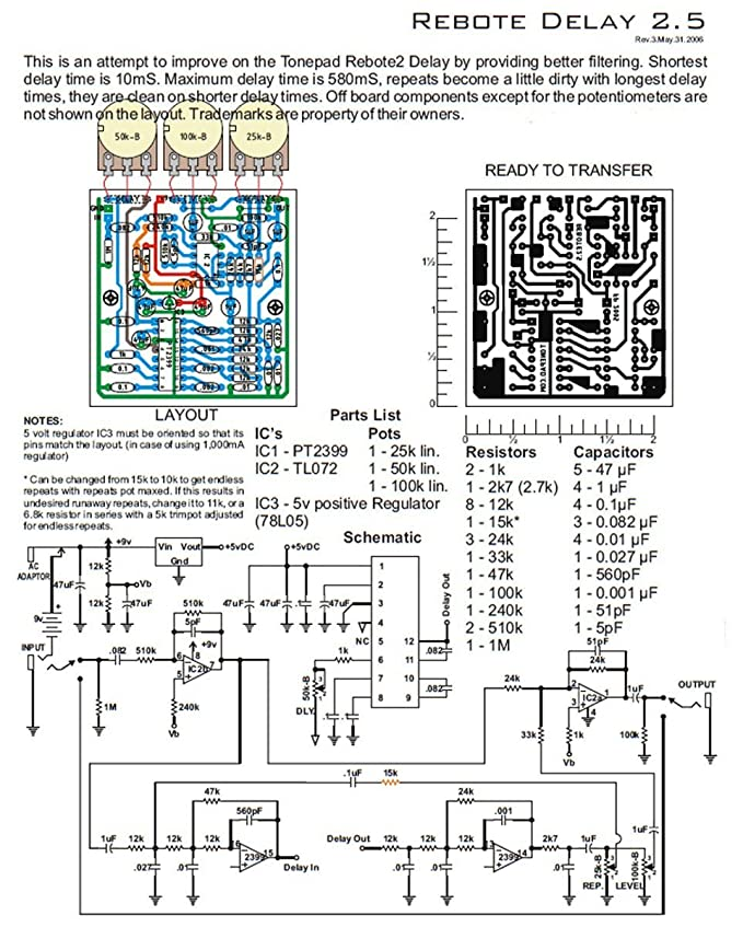 Awesome Delay Pedal Schematic Basic Electronics Wiring Diagram Wiring 101 Archstreekradiomeanderfmnl