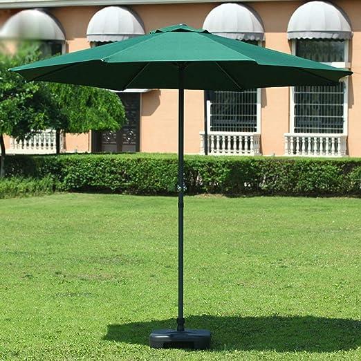 Pkfinrd Sombrillas Mercado Patio al Aire Libre Paraguas Mesa de jardín cesped Canopy UV Planchas de protección 270cm * 240cm (Color: Rojo de Vino) (Color : DarGreen): Amazon.es: Hogar