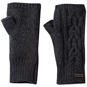 Sorel Addington Lux Fingerless Womens Gloves - One Size/Jet