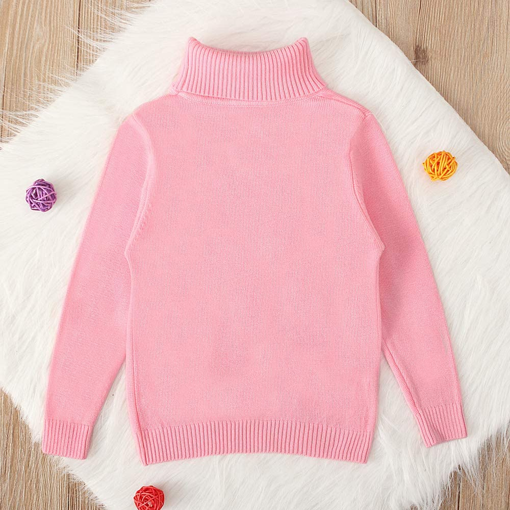 COUNTYRH Toddler Baby Boys Girls Long Sleeves Knit Turtleneck Sweater Casual Winter Warm Shirt