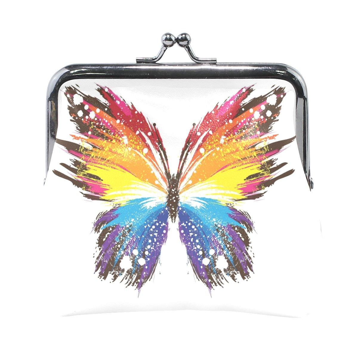 COOSUN Resumen de la Mariposa Patrones de Cuero Colorido de ...