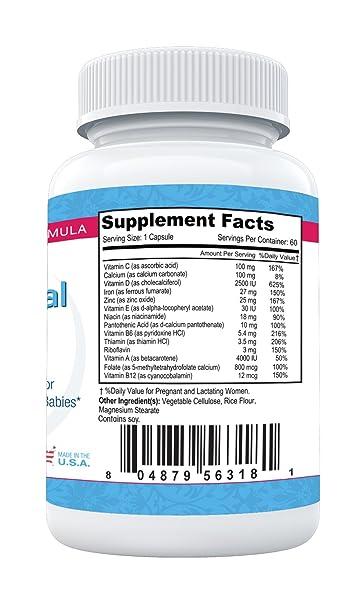 Mothers Select - Postnatal Plus de Mothers Select - Vitaminas posnatales - 60 cápsulas vegetarianas - Suministro para 2 meses - Diseñado para apoyar la ...