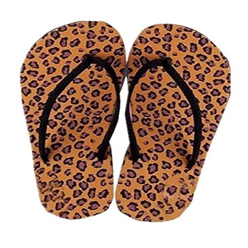 Sannysis Damen Sandalen,Sommer-Hausschuh Indoor & Outdoor Flip-Flops (37, Kaffee)