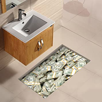 Amazon De Ungfu Mall 1 Pc 3d Badezimmer Wasserdicht Euro Muster