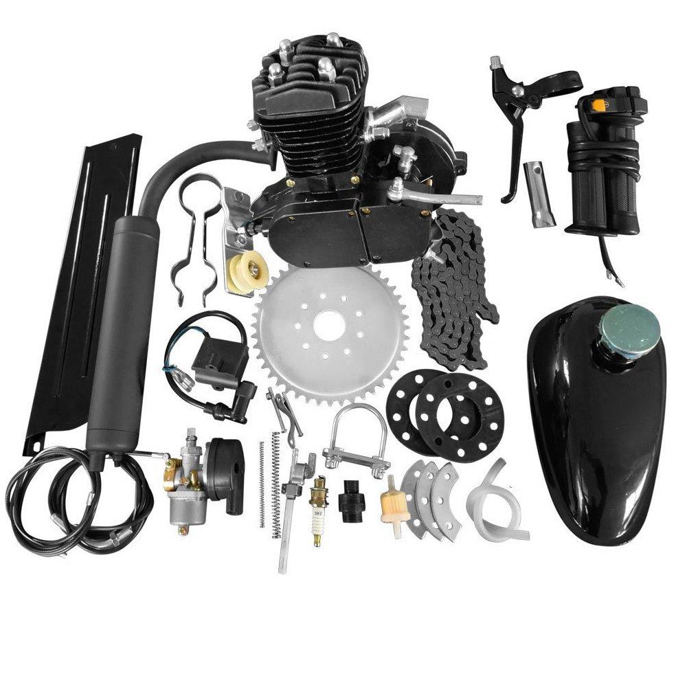 80CC 26'' 28'' Bike Bicycle Motorized 2 Stroke Cycle Petrol Gas Engine Kit Set (Black) by Roadstar
