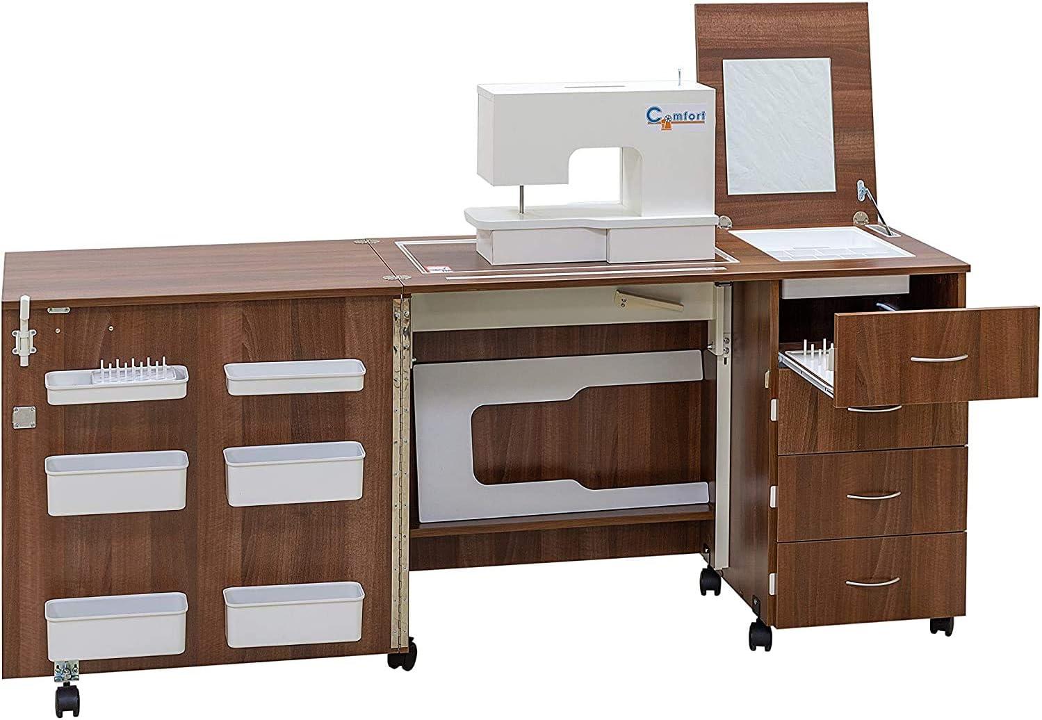 Comfort 2 | Mueble para máquina de coser | (Oak Kendal Cognac, L ...