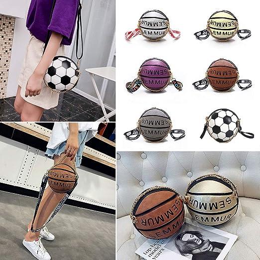 WEISHAZI Bolso bandolera de baloncesto con forma de balón de ...
