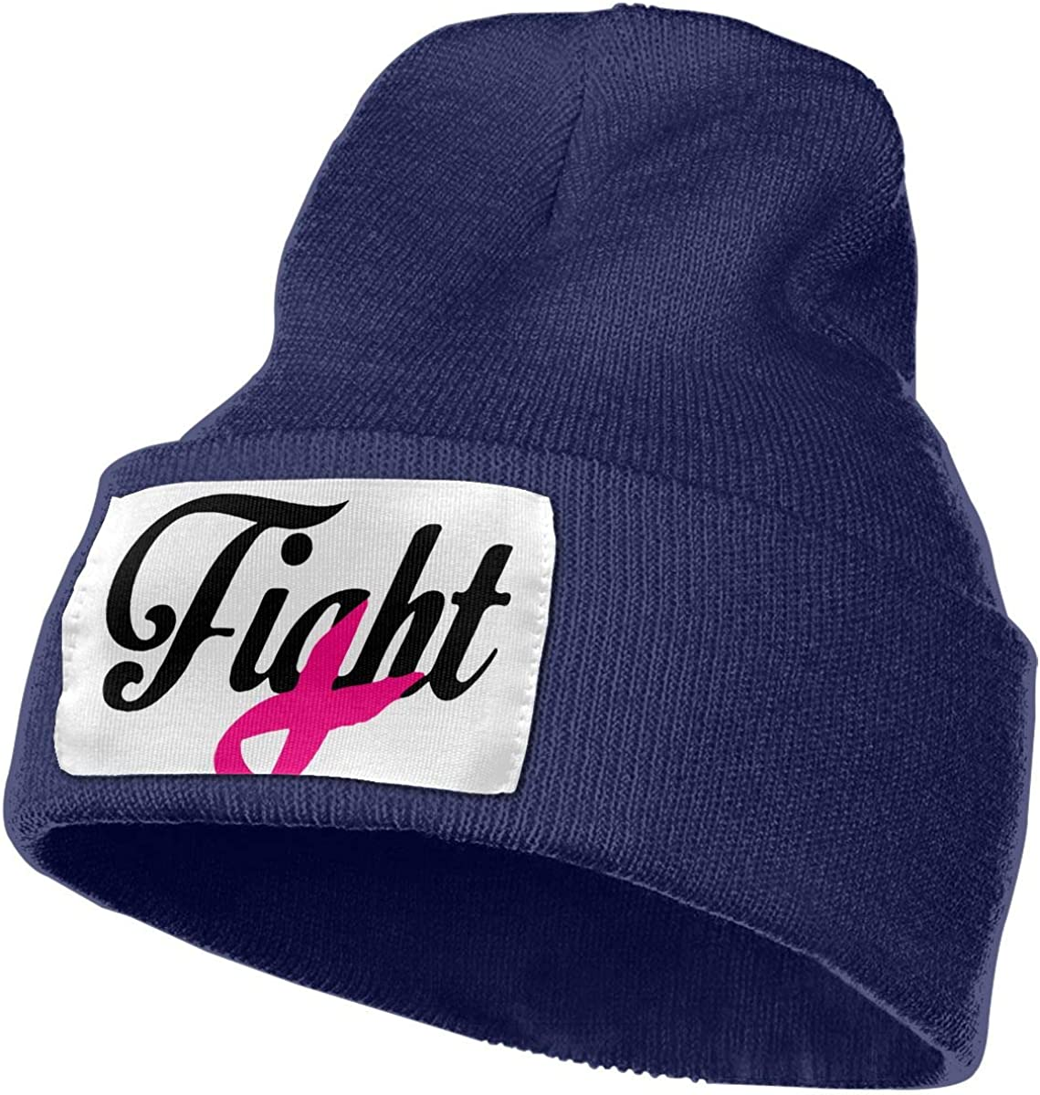 TAOMAP89 Fight Breast Cancer Awareness Women and Men Skull Caps Winter Warm Stretchy Knit Beanie Hats