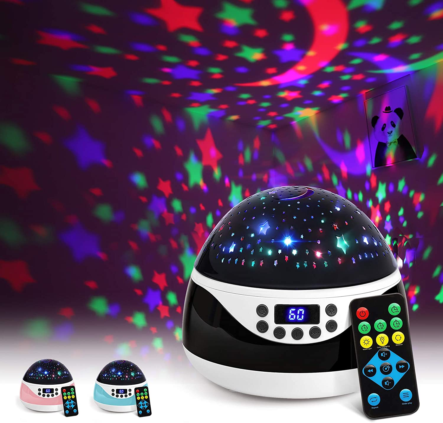 2019 Newest Baby Night Light, AnanBros Remote Control Star Projector with Timer Music Player, Rotating Star Night Light 9 Color Options, Best Night Lights for Kids Adults and Nursery Decor sleep music - 71J3fU7V3KL - Sleep Music – Recommendable music gadgets for your family's good sleep