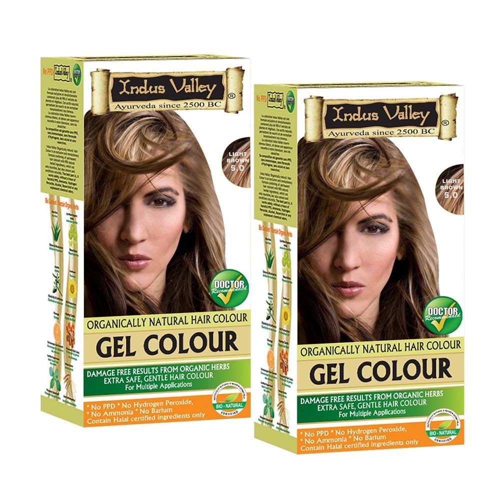 Buy Indus Valley Permanent Herbal Hair Colour Light Brown 50 Kit
