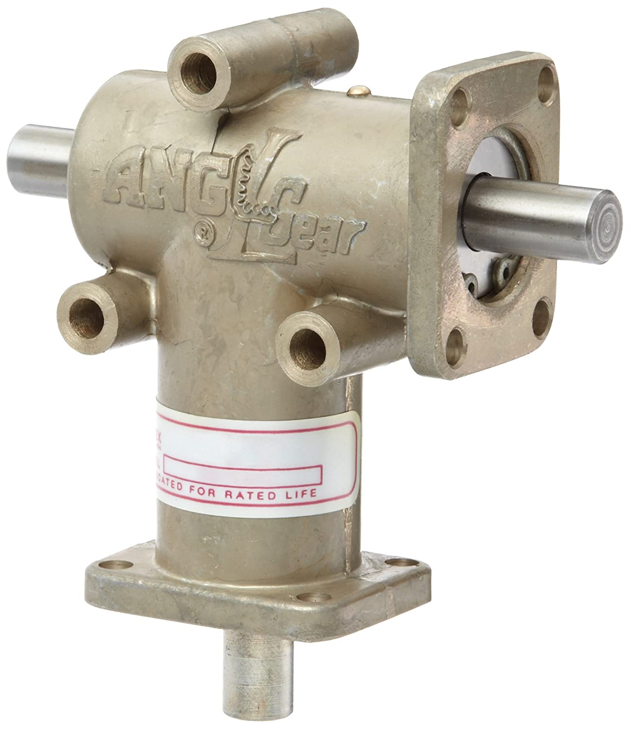 Image of Andantex R3100-2 Anglgear Right Angle Bevel Gear Drive, Universal Mounting, Two Output Shafts, 2 Flanges, Inch, 3/8' Shaft Diameter, 2:1 Ratio.11 Hp at 1750rpm Gearheads & Speed Reducers