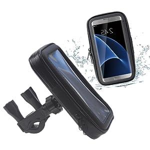 Demarkt Support Téléphone Vélo Portable Moto Rotatif à 360 Bracelet Taille Réglable Compatible Avec Pour iPhone Samsung Galaxy Huawei Etc XL 1PC