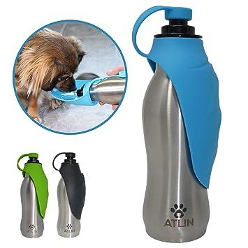 Amazon.com: ATLIN - Botella de agua para perro, acero ...