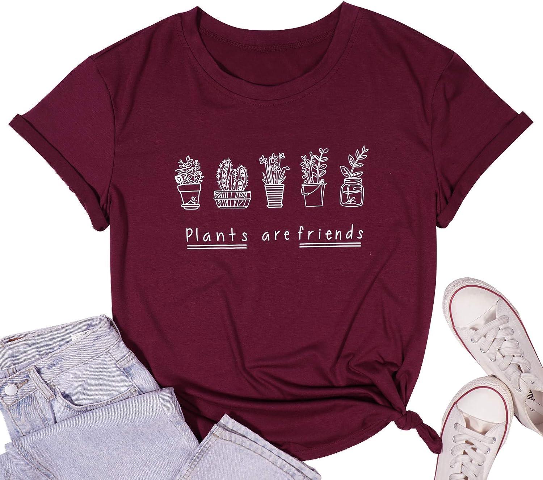 FASHGL Its Not Hoarding If Its Plants T-Shirt Women Funny Plant Gift Tee Cactus Farm Premium Shirt