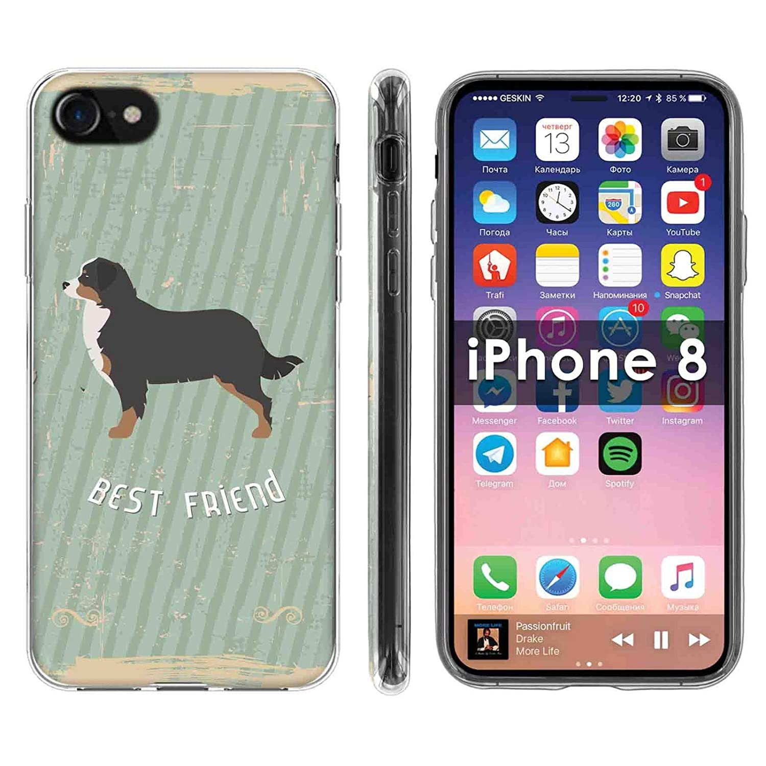 official photos 969ff a0e54 Amazon.com: Apple iPhone 7/8 Deluxe Phone Case Cover Designed in USA ...