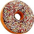 Adkwse Donut mjuk kudde choklad plysch prydnadskudde, gosig kudde extra tjock och fluffig, dekorativ kudde, dekoration