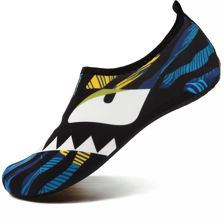 VIFUUR Unisex Quick Drying Aqua Water Shoes Pool Beach Yoga Exercise Shoes for Men Women Eyes 44/45