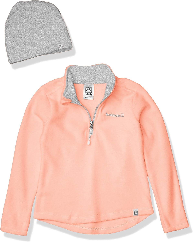 Avalanche Girls Quarter Zip Fleece Pullover Top