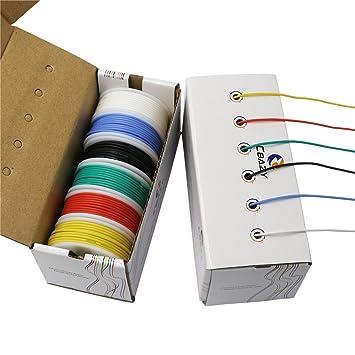 CBAZY™ Hook up Wire Kit (Stranded Wire Kit) 24 Gauge Flexible ...