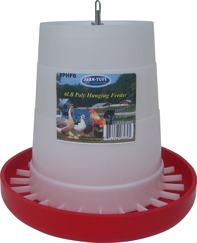 Farm Tuff Plastic Hanging Poultry Feeder 6-Pound