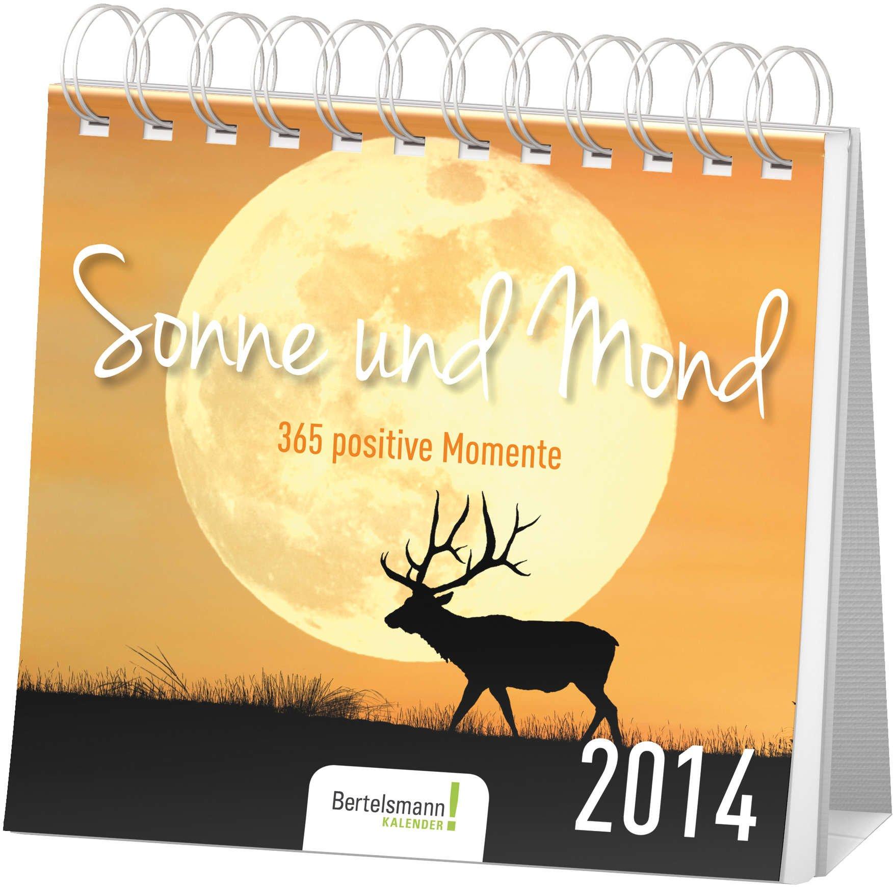 Postkartenkalender Sonne und Mond 2014: 365 positive Momente