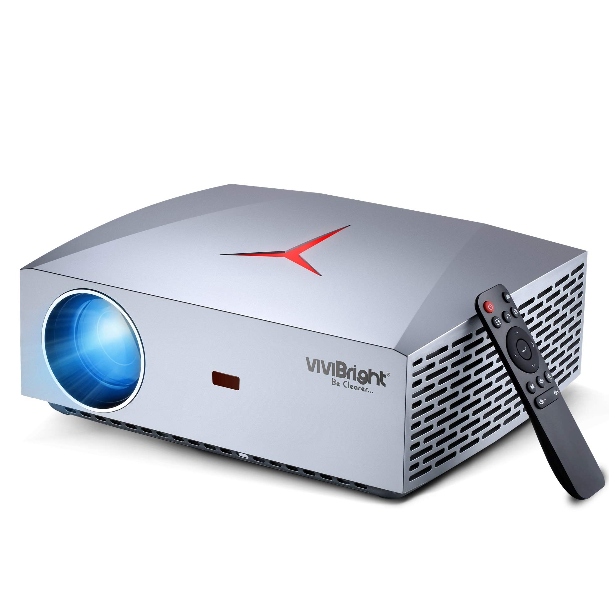 Projector, VIVIBRIGHT F40 Native 1080P Full HD Projector, 4200Lux 300'' Display Home Theater Projector, HiFi Class Speaker with SPDIF, Compatible with TV Stick, PS4, Xbox, HDMI, SPDIF, USB, AV