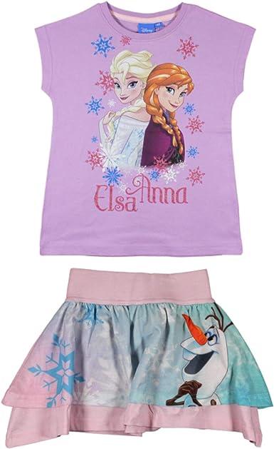 Disney Frozen Conjunto de Camiseta y Falda para niñas Morado ...