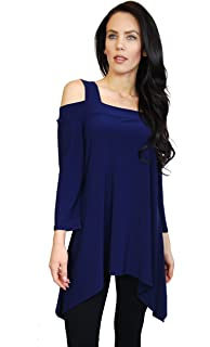 9be7972c9eb17e Avital Womens Cold Shoulder Trapeze Shirt at Amazon Women s Clothing ...