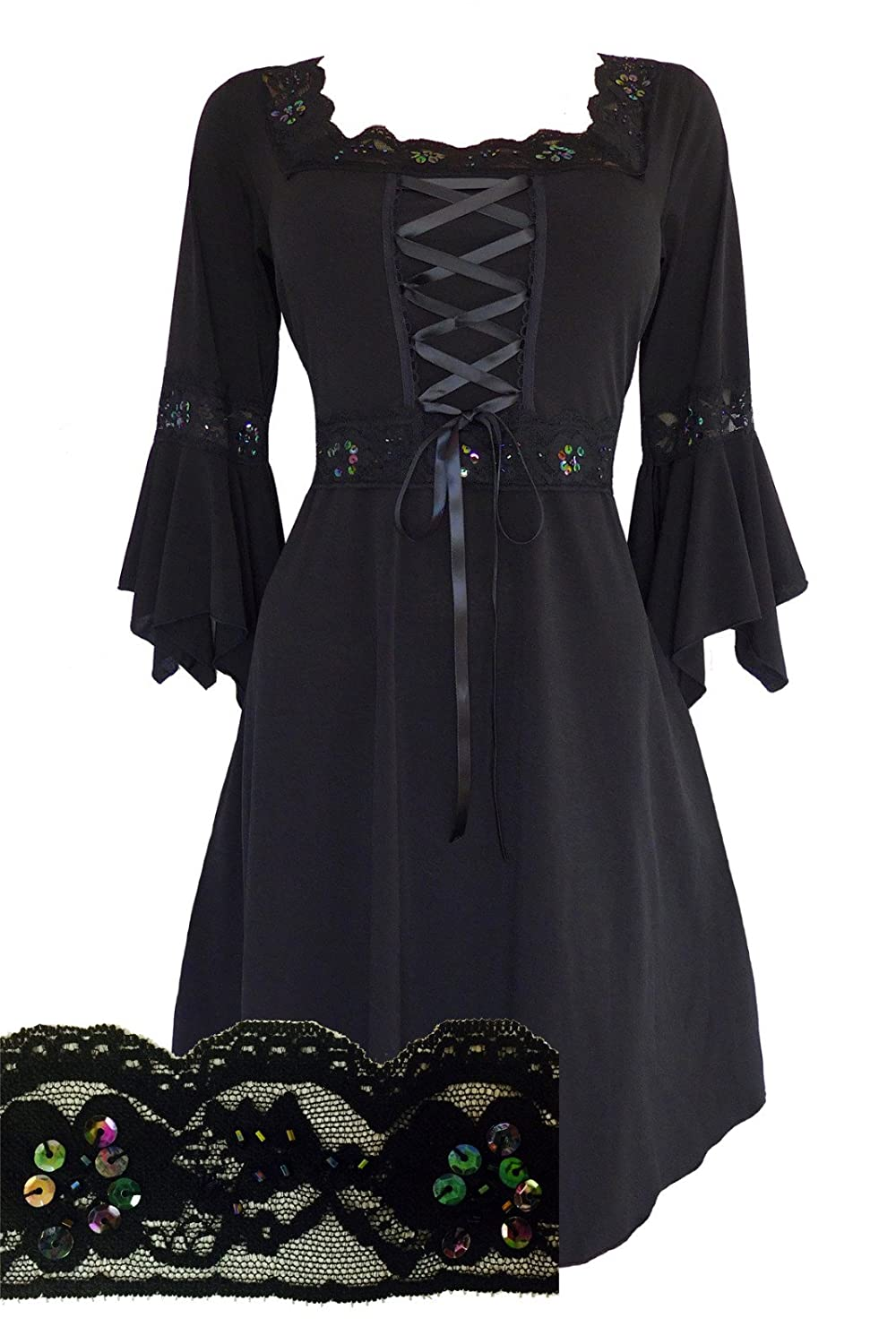 Steampunk Tops | Blouses, Shirts Dare To Wear Victorian Gothic Boho Womens Plus Size Renaissance Corset Dress $82.99 AT vintagedancer.com