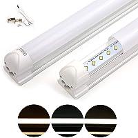 OUBO Réglette LED 60cm T8 Support Tube Fluoescent Eclairage de cuisine 10W 1150lm Blanc Chaud 3000k Couverture Laiteux SMD 2835 G13