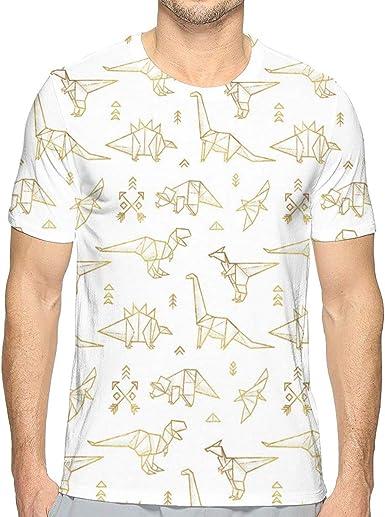 Camiseta de Manga Corta para Hombre, diseño de Dinosaurios de ...