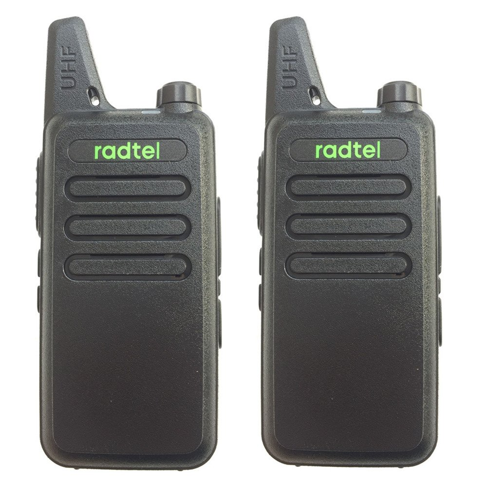 Radtel RT-10 Mini Two Way Radio UHF 400-470Mhz 3W Kid's Walkie Talkie, for Outdoor Camping Hiking Hunting Gift (2 Pack)
