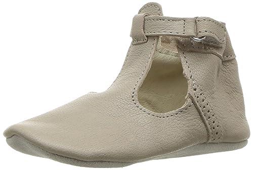 c243653409f Robeez Girls  T-Strap-First Kicks Crib Shoe