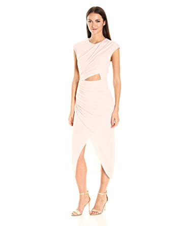 bautista drapes draped gray martin vito dress jersey studio