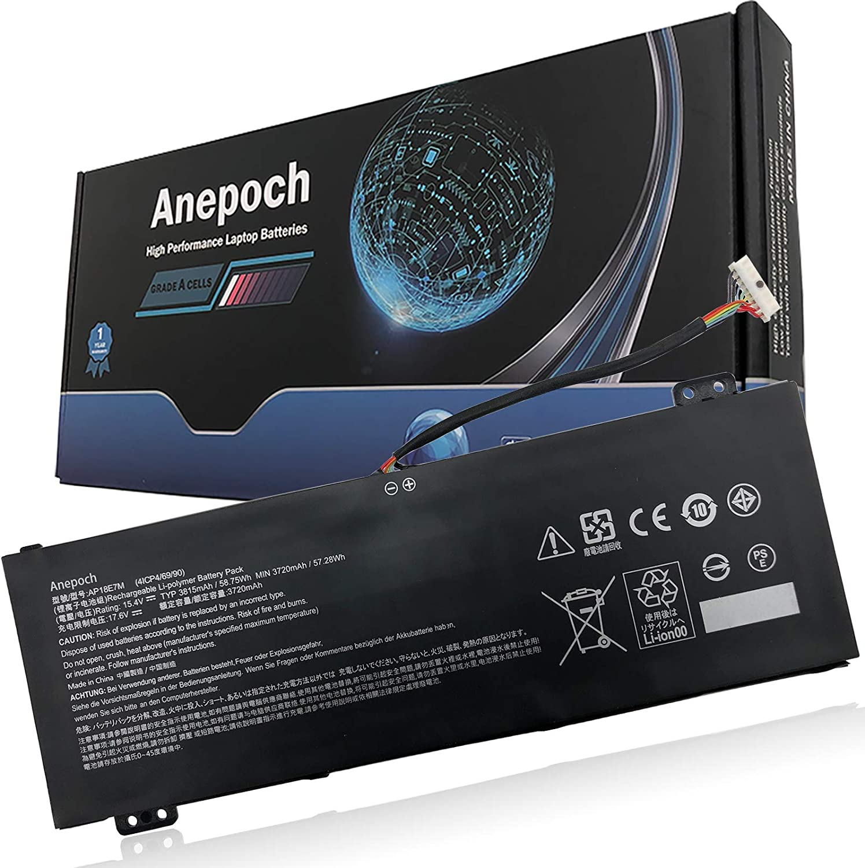 Anepoch AP18E7M AP18E8M Laptop Battery Compatible with Acer Nitro 5 AN515-54 AN517-51 7 AN715-51 Aspire 7 A715-74G Predator Helios 300 PH317-53 Triton PT315-51 Series Notebook 15.4V 58.75Wh 3815mAh