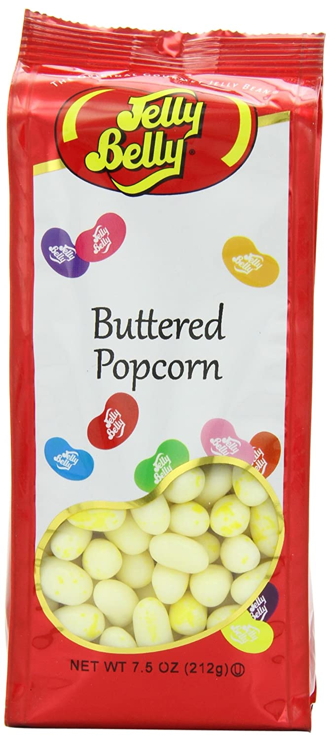 Amazon Com Jelly Belly Gift Bag Buttered Popcorn Jelly Beans Grocery Gourmet Food