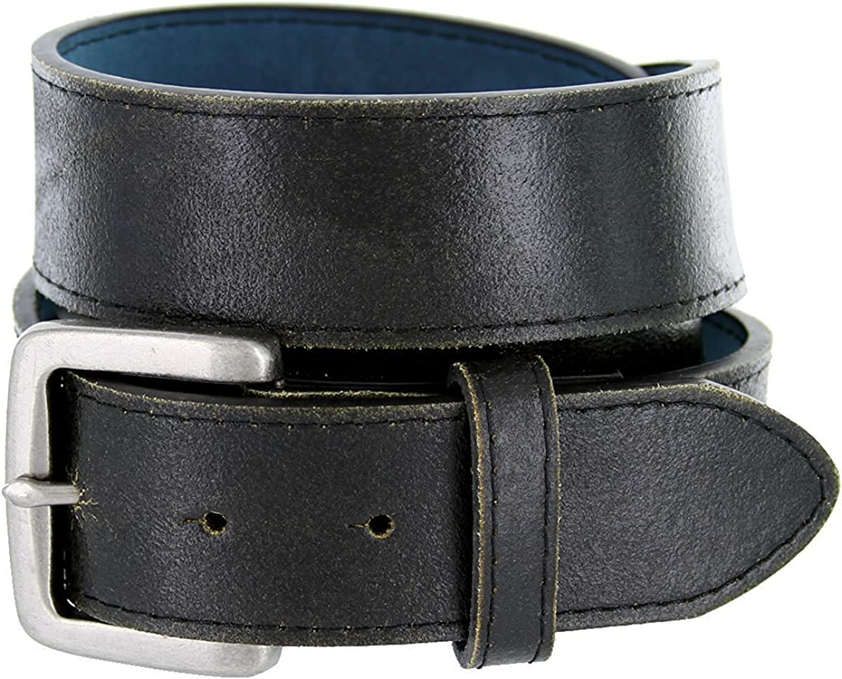 Pele Belt Men Black 1-3//8 Wide Stitched Leather Silver Floral 4 Piece Buckle