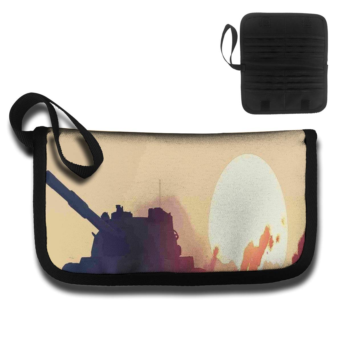 Amazon.com: Unisex Tank and Ruined Skyscrapers Multi-Function Wallet Credit Card Case Holder: Home & Kitchen
