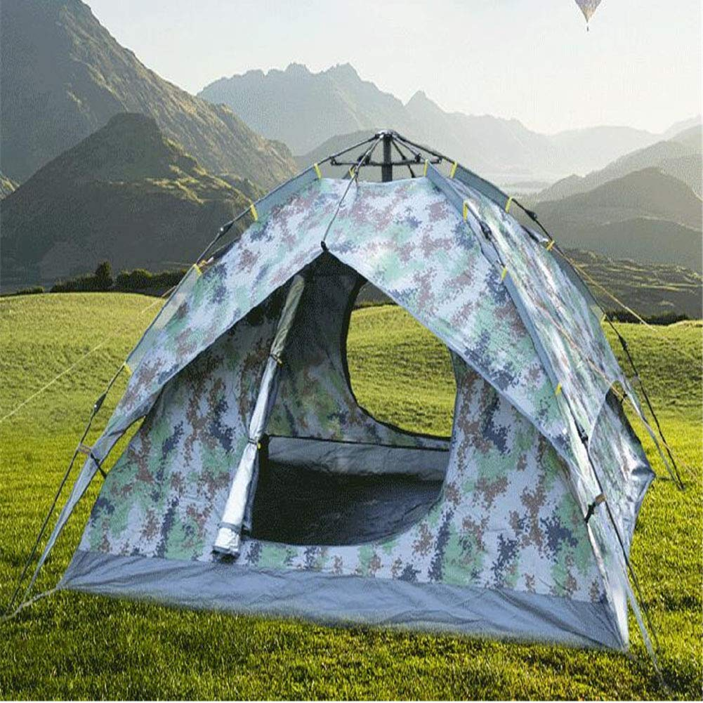 Yuhong Zelt, 3-4 Personen Outdoor-Camouflage Zelte Zwei Zimmer und EIN Wohnzimmer Automatische Sonnenschutz Regenschutz Zelt