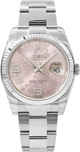 Amazon.com Rolex Datejust Automatic Pink Floral 18 kt White